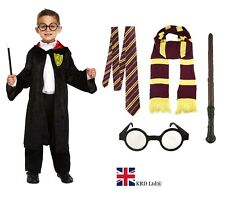 WIZARD FANCY DRESS COSTUME Boys Kids Child Book Day Week Outfit Accessory Lot UK