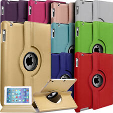 PU Leather 360 Degree Rotating Stand Case Cover For APPLE iPad Air ,2 3 4, Mini