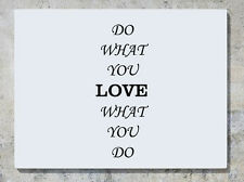 DO WHAT YOU AMOR AMOR what you do frase palabras adhesivo adhesivo pared imagen