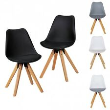 FineBuy Set of 2 Retro Dining chair faux leather dining kitchen chair backrest