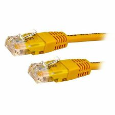 RJ45 Cat5e 1m-15M Meter Ethernet LAN Network Patch Cable Snagless Yellow LOT