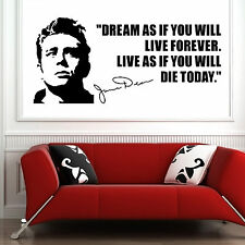 JAMES DEAN EEUU Actor De 1950 frase Dream As If You Vinilo Adhesivo mural