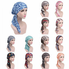 Women Stretch Cotton Bandana Head Scarf Turban Hat Headwear Chemo Cap Headwrap