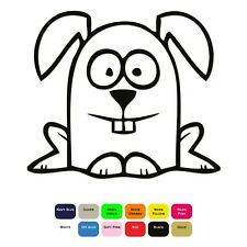 Cartoon Rabbit Iron On T-Shirt Transfer Clothes Sticker Choice 12 Colour 4 Sizes
