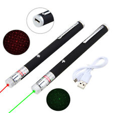 2 IN1 Green/Red Laser USB Rechargeable Powerful 1mW 532nm Beam Lazer Pointer Pen