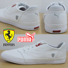 PUMA Men's Bombato Scuderia Ferrari NM Trainers White Canvas Sneakers 30567102
