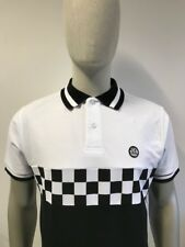 Ska & Soul Chequerboard Front Pique Polo White SS/2176