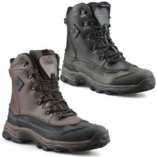Mens Leather Waterproof Walking Hiking Winter Snow Work Ankle Boots Shoes Size