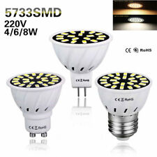 1/6 Pcs 4W 6W 8W LED Spotlight GU10 MR16 E27 5733 SMD Lamp Bulb Light 110V 220V