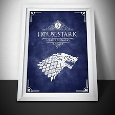 Game of Thrones House Stark Poster Print. Game of Thrones Poster