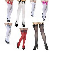 Ladies Over The Knee Hold Up Stockings Socks Thigh High Fishnet Holdup Stockings