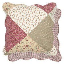 Clayre Eef Federa cuscino patchwork shabby chic fodera disegno floreale