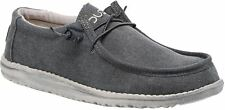 Hey Dude Wally Classic Oceano Canvas Mens Lace Up Shoes