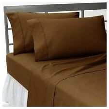 New Collection Egyptian Cotton Duvet Collection Choose Size & Item-Chocolate