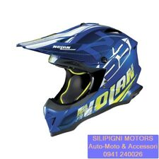 NOLAN N53 WHOOP 48 FLAT DENIM BLUE CASCO INTEGRALE OFF ROAD MOTO CROSS ENDURO