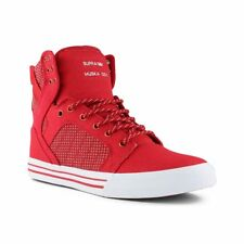 Supra Skytop Shoes - Formula One Red / White