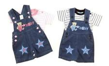 Baby Kids Boy Girl Denim Dungaree Baby Bear Design Set