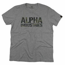 ALPHA INDUSTRIES T-Shirt CAMO PRINT T grey woodland