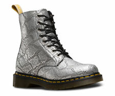 Dr Martens 23308040 1460 pascal vegan silver metallic snake skin sizes 3-9UK