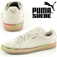 PUMA Ladies Suede Classic Leather Womens Trainers V2 Mens Retro Shoes 36324001