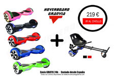 PACK OFERTA  HOVERBOARD PATINETE ELECTRICO GV LED + HOVERKART AMORTIGUADORES
