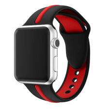 For Apple Watch Series 1 / 2 / 3 Band Strap Bracelet Replacement New Blk-Red