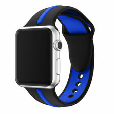For Apple Watch Series 1 / 2 / 3 Band Strap Bracelet Replacement New Blk-Blue