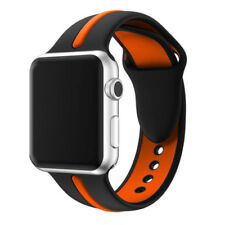 For Apple Watch Series 1 / 2 / 3 Band Strap Bracelet Replacement New Blk-Orange