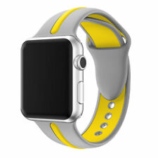For Apple Watch Series 1 / 2 / 3 Band Strap Bracelet Replacement New Grey-Yellow