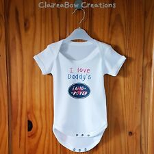 Funny Novelty 'I Love Daddy's Land Rover' Baby Grow / One-Piece Baby Vest Gift
