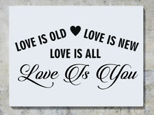 Love Is Old Love Is NUEVO amor is all amor is you Adhesivo Pared Adhesivo Imagen
