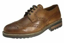 Red Tape FELCE marroncino SLIP ON Brogue da uomo, in pelle formali eleganti