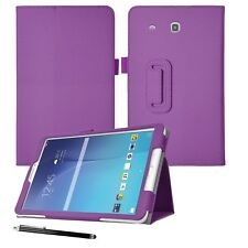 """Flip Leather Folio Stand Case Cover For Samsung Galaxy Tab E 9.6"""" T561-T560"""