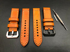 Orange Leather Watch Strap Band Pre-v Buckle for Panerai 20mm 22m 24mm 26mm
