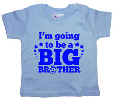"Big Brother T-Shirt "" I'm Going To Be "" BAMBINO MAGLIETTA DIVERTENTE VESTITI"