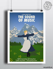 SOUND OF MUSIC Minimalist Movie Poster Posteritty Minimal Julie Andrews Print