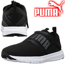 PUMA Mens ENZO Strap Mesh SoftFoam Sports Running Trainers Training Sneakers BLK
