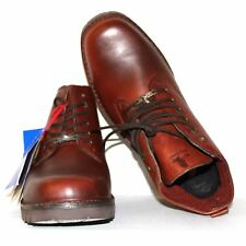 Men's Genuine Red Goose Brown Leather Boots Lace Smart Shoes UK 11 RRP £110