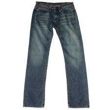 WOMEN'S EVISU LOW WAIST STRAIGHT LEG DENIM JEANS ITALY W31 34 L33/34 RRP £170