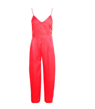 Boohoo Satin Button Down Culotte Jumpsuit party festival  size 8 10 new