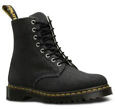 Dr Martens 23333001 Pascal black 8 eye-let heavy canvas boot sizes 3-13UK