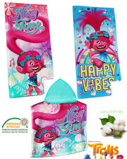 TROLLS Bath Towel and (or) TROLLS Poncho (Hooded Towel) Set/Separately Cotton