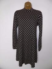 Dorothy perkins black polka dot Tunic dress size 14 eur 42 new with tags