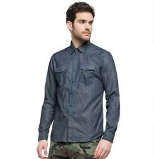 Camisa REPLAY pantalones vaqueros del hombre stretch denim azul oscuro mode