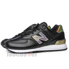 New Balance WL574NRH Glitter Punk Womens Shoes Black Fashion Casual Trainers