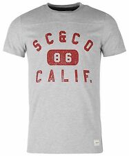 """SOULCAL & Co hommes Tee-shirt FR Calif 86 """" GRIS NEUF"""