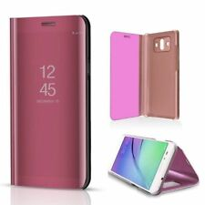 New Samsung Galaxy S9 S9+ Clear View Mirror Leather Flip Stand Case Cover