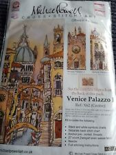 3 NEW MICHAEL POWELL CROSS STITCH KITS TRIPTYCH VENICE PALAZZO I, II & III