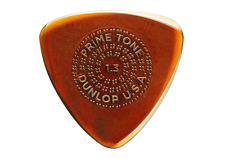 Jim Dunlop 516R1.3/1.4/1.5 Primetone Sculpted Small Triangle Picks with Grip X3