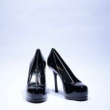 Yves Saint Laurent Tribtoo Pump Patent Black UK 6 EU 39 US 9